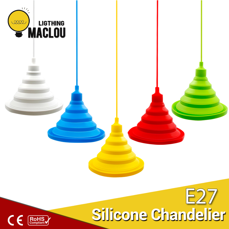 Modern Home Lighting Vintage Lamp Living Room Lustre Colorful Retro Luminaire E27 LED Edison Bulb Silicone Dining Pendant Light smart bulb e27 7w led bulb energy saving lamp color changeable smart bulb led lighting for iphone android home bedroom lighitng