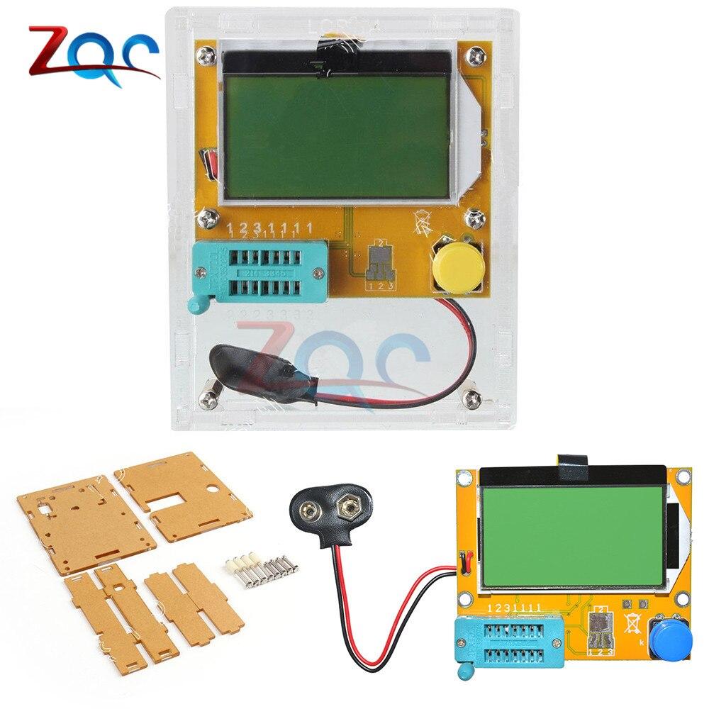 Mega328 M328 LCR-T4 12846 LCD Digital Transistor Tester Meter Backlight Diode Triode Capacitance ESR Meter MOS/PNP/NPN W/ Case