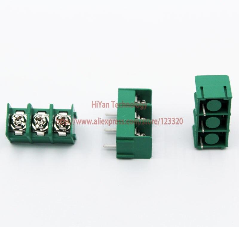 2ace95351 (50 قطعة/الوحدة) KF7.62 3Pin PCB المسمار محطة كتلة موصل KF7.62-3P الملعب:  7.62 ملليمتر/0.3 بوصة الأخضر MG7.62 3 دبابيس