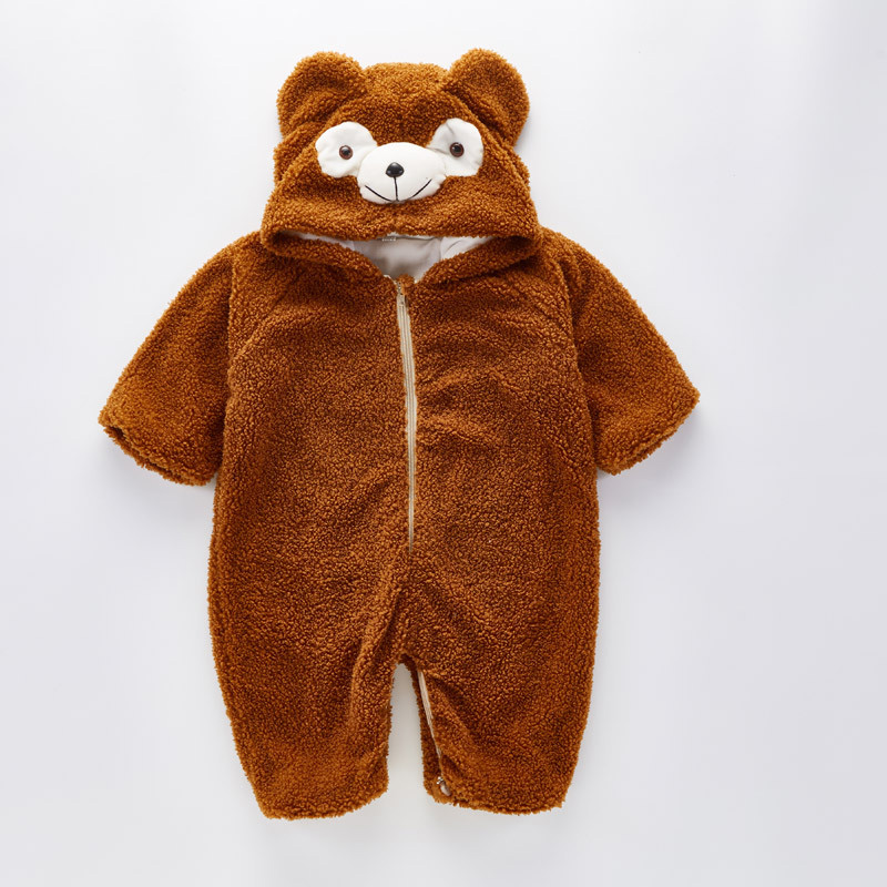 359b8b578 Autumn Winter Baby Rompers 2018 Funny Bear Warm Hoodies Costume Jumpsuit  Baby Girls Boys Romper Newborn Toddler Clothing-in Rompers from Mother &  Kids on ...