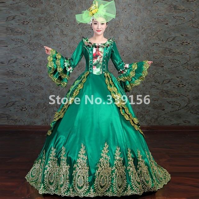 Rococo Gown Upscale Costume Marie Antoinette Period Dress Masquerade ...