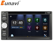 цена на Eunavi Double 2 Din Car PC DVD player for universal with GPS Navigation MP3 Radio RDS Video country map Bluetooth Mp4 car sterto