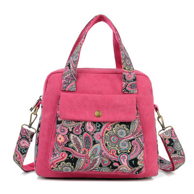 New Top Quality Vintage Women Handbag Ethnic Style Print Flower Canvas Large Tote Fashion Shoulder bag Women Messenger Bag