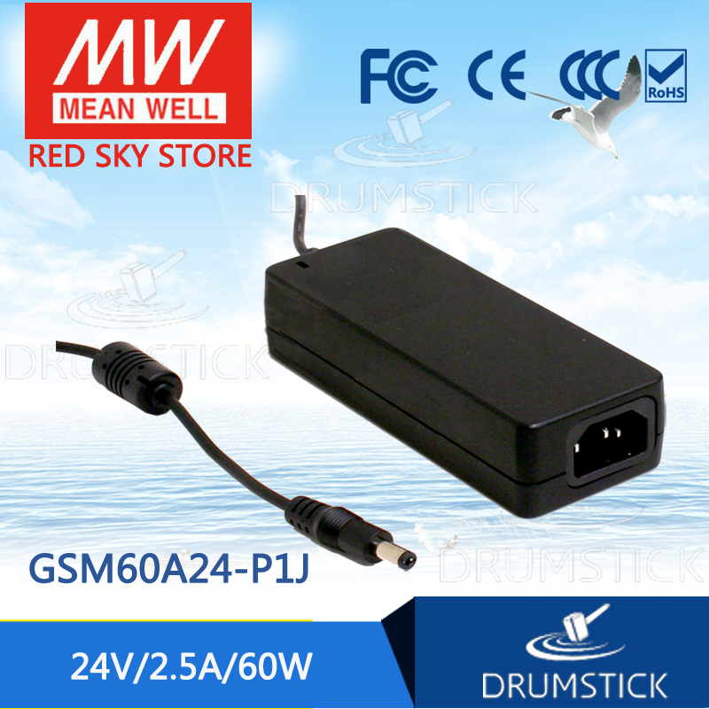 Selling Hot MEAN WELL GSM60A24-P1J 24V 2.5A meanwell GSM60A 24V 60W AC-DC High Reliability Medical Adaptor [mean well] original gsm60b05 p1j 5v 6a meanwell gsm60b 5v 30w ac dc high reliability medical adaptor