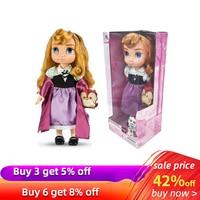 40cm Original Disney Princess Cinderella Rapunzel Snow White Girl Angels Original Doll for Children Gift Action Figure Model