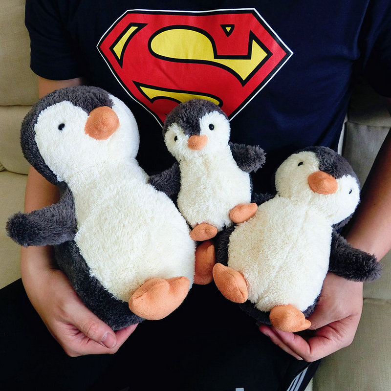 Super soft Stuffed animal Penguin Doll Cute Baby Appease toys pink piggy Kids Toy Birthday Gift For Children