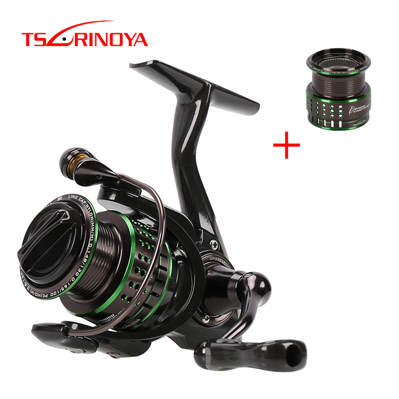 TSURINOYA Ultra light Spinning Fishing Reel Kingfisher 800 1000 162g Spare Spool 10 1BB Carbon Fiber