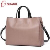 LY SHARK Women Messenger Bag Shoulder Crossbody Bag Ladies Genuine Leather Bags Handbags Women Famous Brand