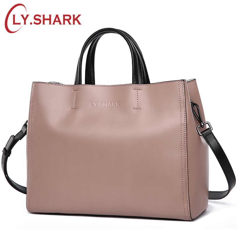 LY.SHARK Women Messenger Bag Shoulder Crossbody Bag Ladies Genuine Leather Bags Handbags Women Famous Brand Luxury Designer Tote zency new women genuine leather shoulder bag female long strap crossbody messenger tote bags handbags ladies satchel for girls