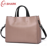 LY SHARK Women Messenger Bag Shoulder Crossbody Bag Ladies Genuine Leather Bags Handbags Women Famous Brand