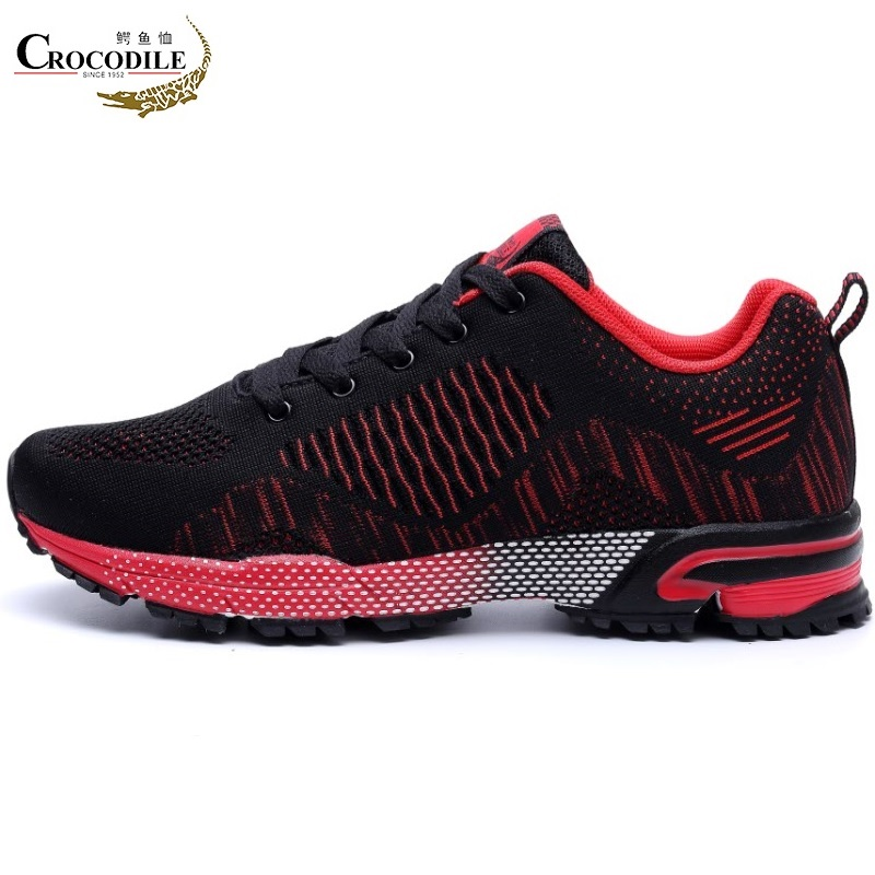 Crocodile New Women Breath Sneakers Cushioning Mesh shoes Athletic Jogging Sports Shoes Outdoor for Women's Flat Running Shoes 2017brand sport mesh men running shoes athletic sneakers air breath increased within zapatillas deportivas trainers couple shoes