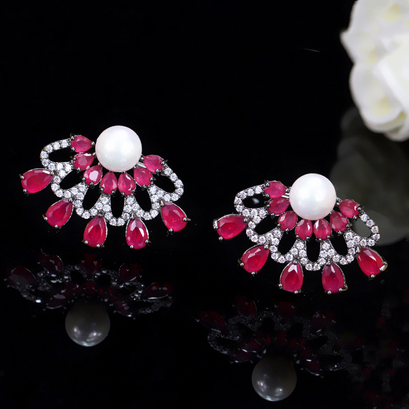 Ruby Red Stud Earrings5
