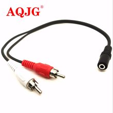 Original 3.5mm Plug Female Jack to 2 RCA Male Stereo Audio Cable Adapter Y Splitter Converter 30cm(China)