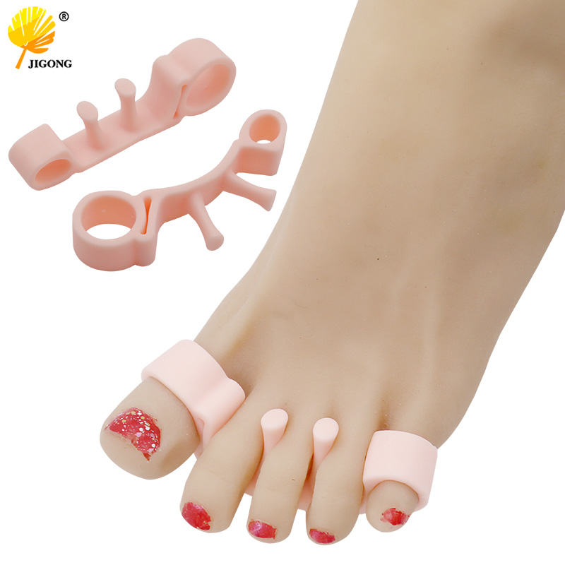 1Pair Silicone Gel Hammer Toe Separator Correction Straightener Orthopedic Metatarsal Rings Feet Care Shoes Cushion Foot Pads
