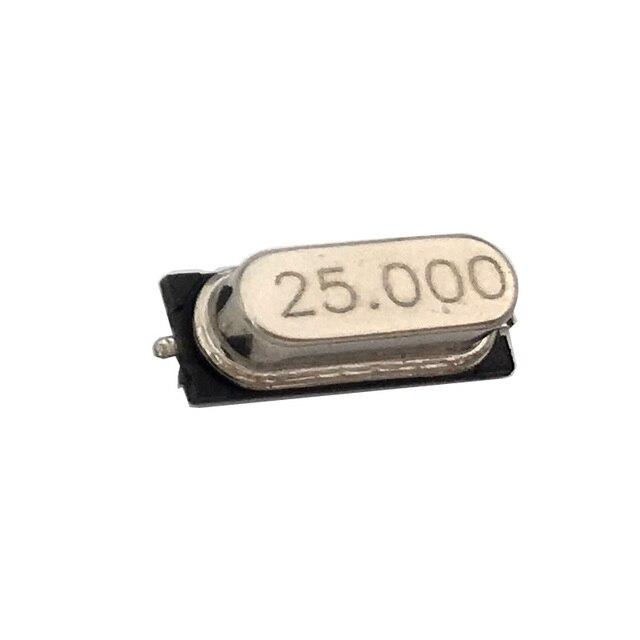 20 штук smd HC-49S 25 МГц 25,000 МГц 20ppm 20pF Кварцевый резонатор кристалл