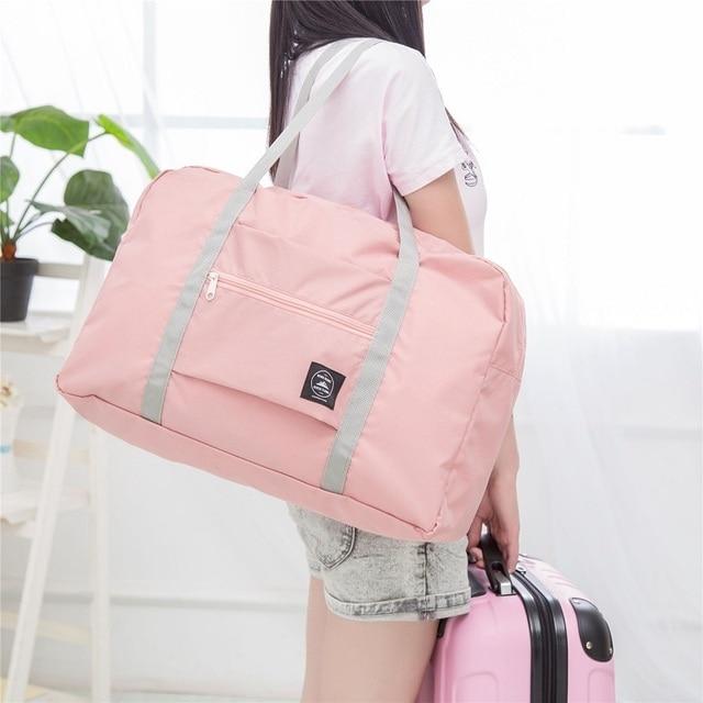 Female Travel Gym Bag Folding Portable Duffel Storage Women Fitness Shoulder Yoga Mat Waterproof Handbag