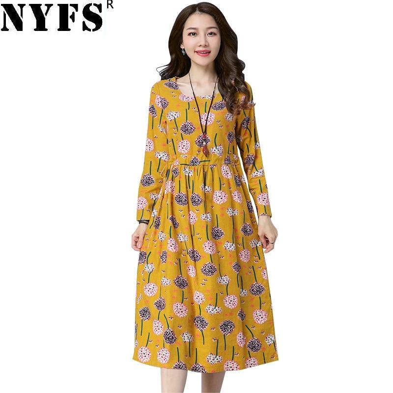 Dresses Nyfs 2019 New Summer Dress Chinese Style Vintage Women Dress Loose Silk Embroidery Long Dress Vestidos Robe