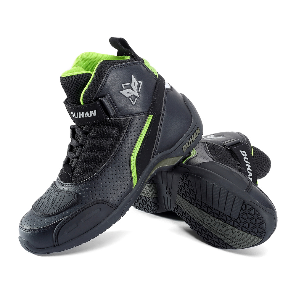 Motorcycle Boots Men Summer Breathable Moto Boots Leather Motocross Off-Road Racing Boots Motorbike Riding Biker Boots Black pro biker travel riding boots motocross motorcycle boots motorbike off road botas moto motorcycle equipmen black size 40 45