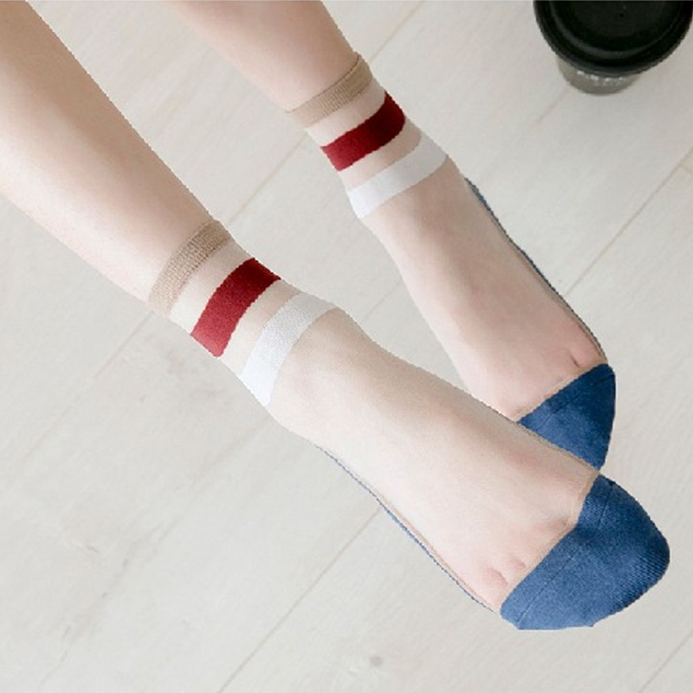 1 Pair Women Casual Socks Spring Girl Color Women Fashion Long Thin Socks For Woman Breathable Transparent Korean Style