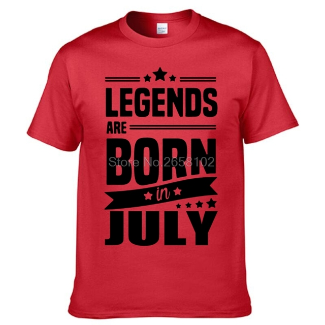 LEGENDS ARE BORN IN JULY MENS T SHIRT COOL FUNNY BIRTHDAY GIFT PRESENT IDEA