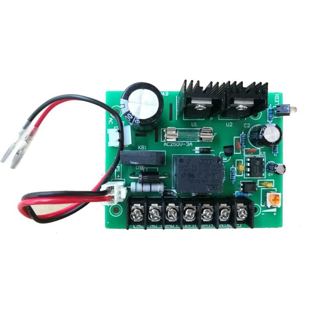 LPSECURITY 12VDC 3A 5A Door Lock Access Control Power Supply Circuit Board/Access Controller UPS Power Board Battery Interface