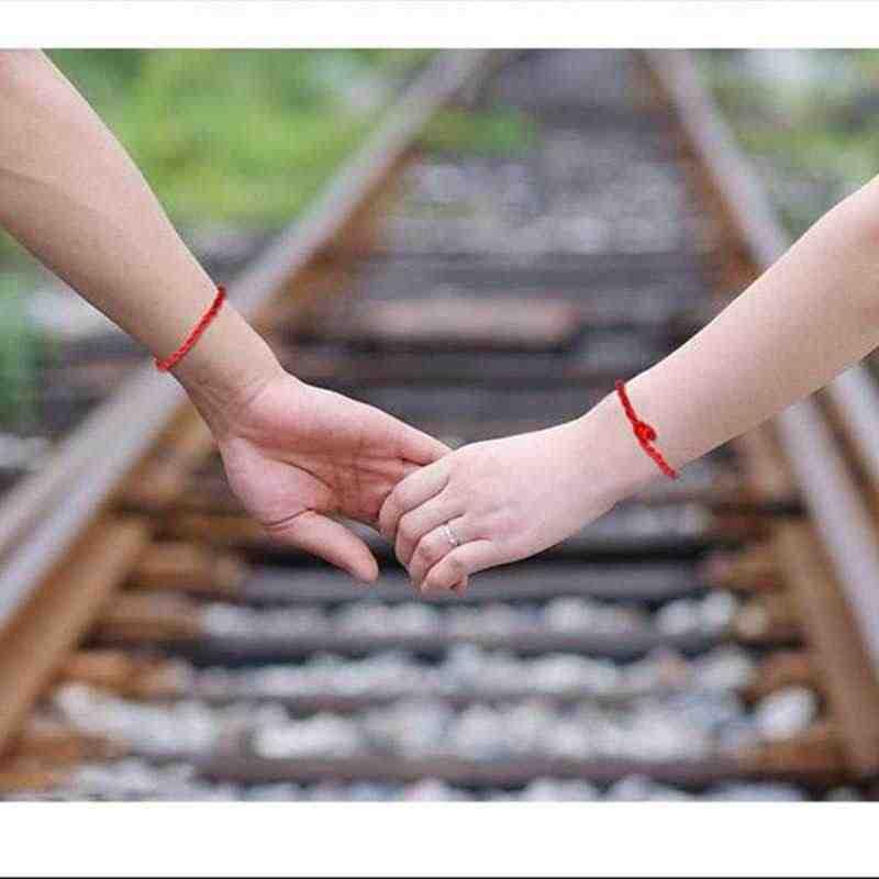 1 قطعة رخيصة البرية الساخن حبل أحمر أساور محظوظ أساور الحبل سلسلة الكلاسيكية اليدوية زوجين سوار عاشق هدية بالجملة