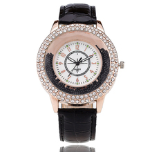 VANSVAR Fashion Women Rhinestone Watch Leather Strap Quartz Watch Reloj Mujer Hot Women Dress Watch Relogio Feminino