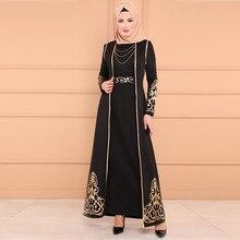 long abaya dress Casual Muslim women 2 PC Dress and Robe Kaftan Abaya Slim Party Dresses Y525
