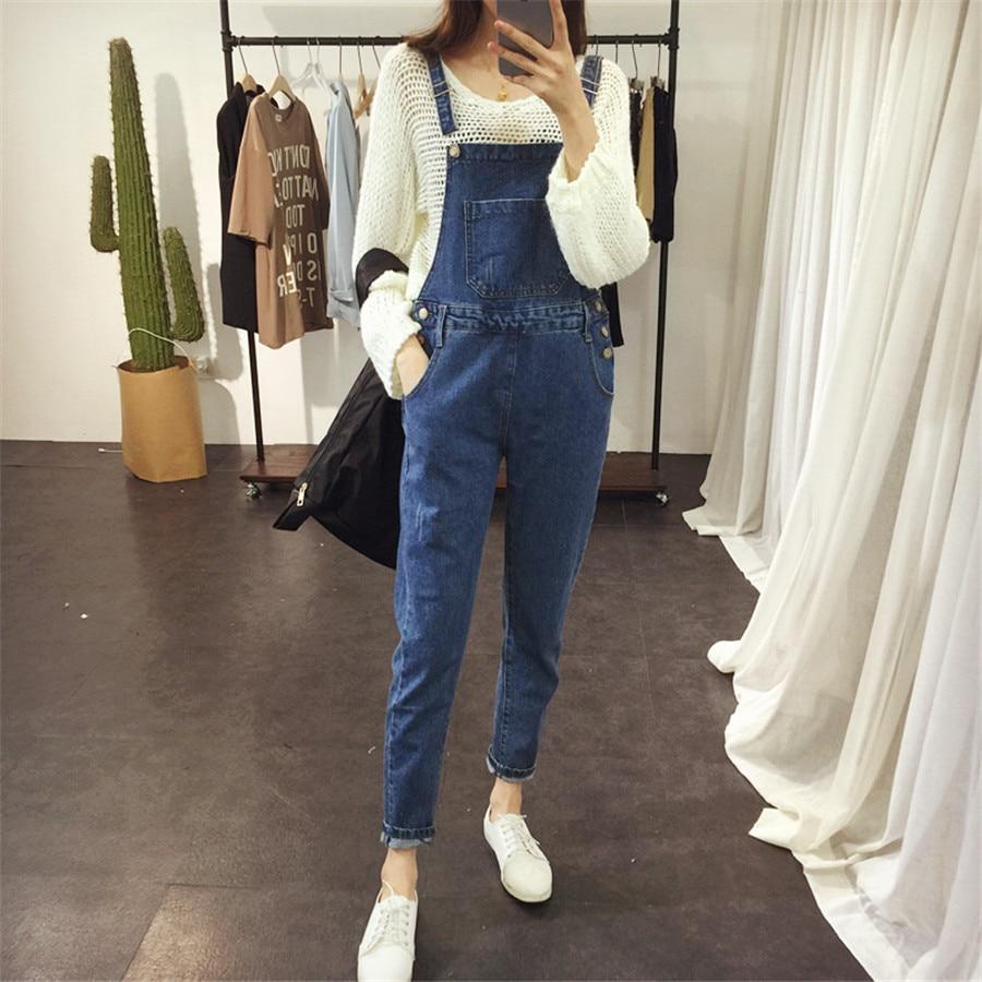 da1fd2727fb Jeans Women Jumpsuit Denim Romper Overalls Casual Long Trousers Vaqueros  Basic Denim Pants Rompers Female