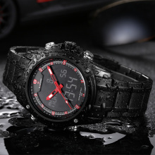 NAVIFORCE Sport Clock Men's Quartz Wrist Watch Military Watch For Men Full Steel Men Watch