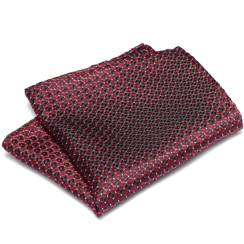 Stripes Polka Dots Pocket Squares For Suits 100% Silk Handkerchiefs Vintage Men Paisley Jackets Wedding Party Business