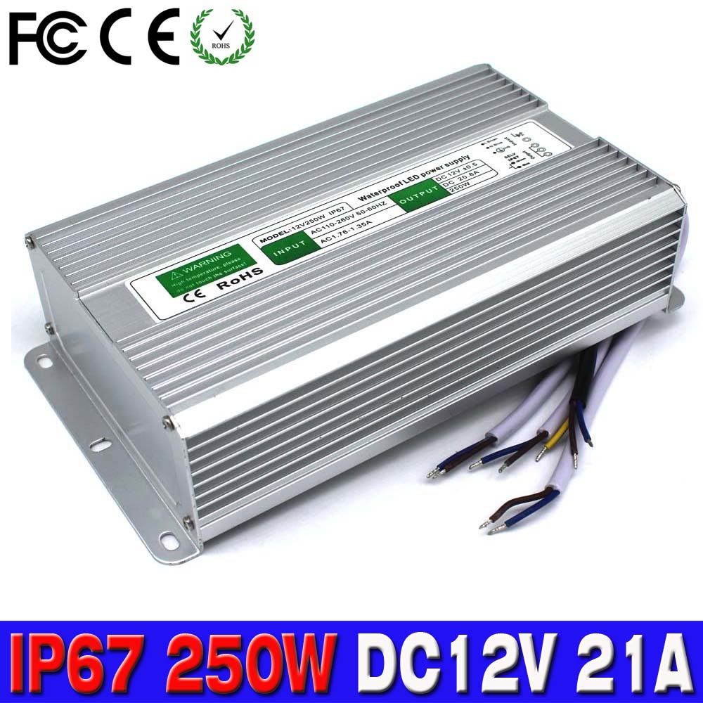 buy dc 12v 21w 250w led driver power supply lighting transformer adapter. Black Bedroom Furniture Sets. Home Design Ideas