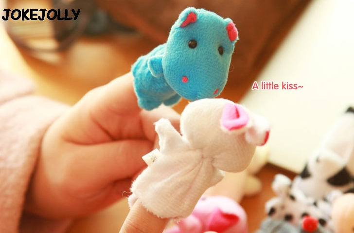 Baby-Plush-Toy-Finger-Puppets-Tell-Story-Props-10pcs-Animals-or-6pcs-Family-Doll-Kids-Toys-Children-Gift-GYH-4