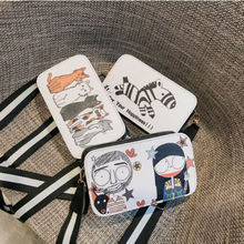 Women Leather Zipper Small Bag Handbag Lady Cross-body Tote Satchel Shoulder Bag with 5 cartoon cats or Zebra fashionable women s satchel with zipper and embossing design