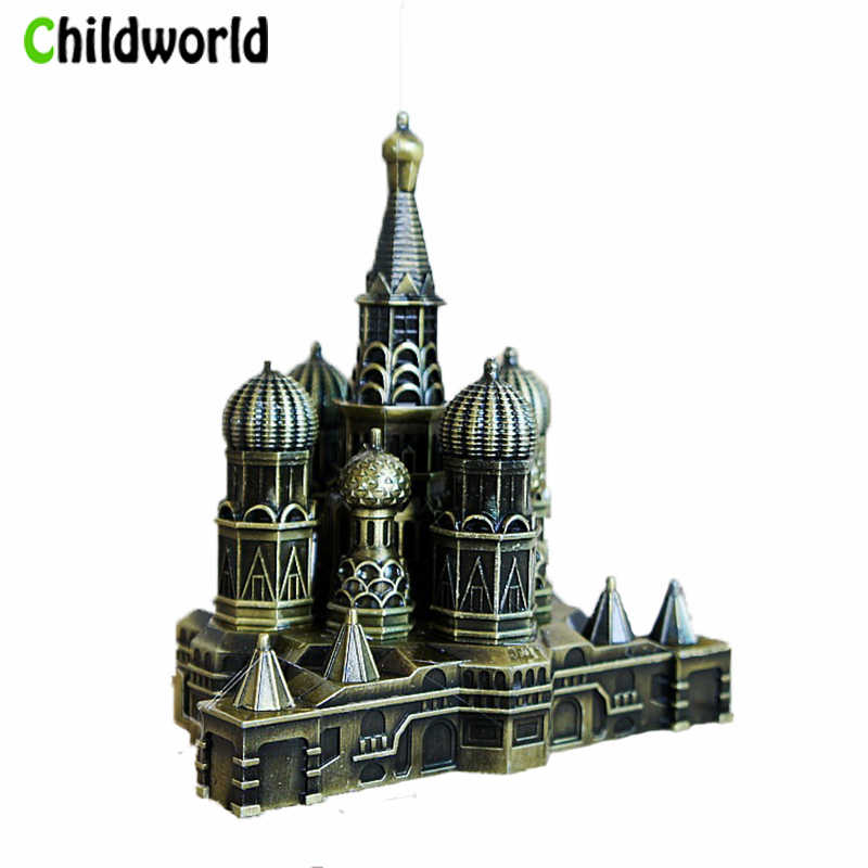 2019 New Office home Decoration Metal Kremlin Model Craft Gift Furniture Home Decoration Accessories interior miniature figurine