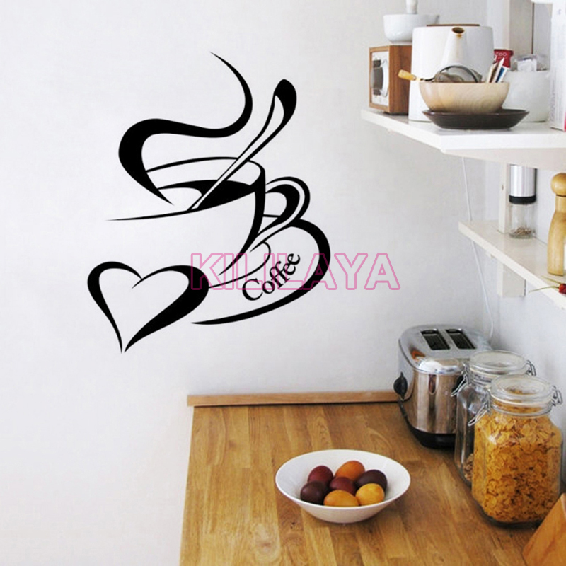 Stickers Cuisine Coffee Cup Vinyl Wall Sticker Mural Wall Tile