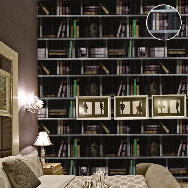 Acquista all'ingrosso online book shelf wallpaper da grossisti ...