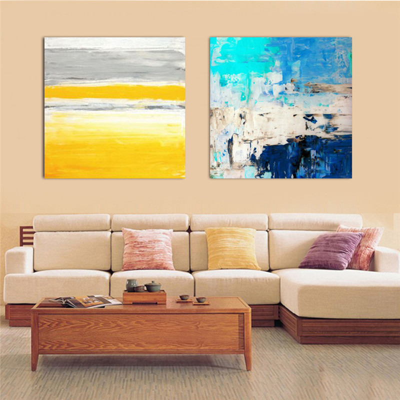 HAOCHU Abstract Canvas Painting Color Striped Picture Nordic Modern ...