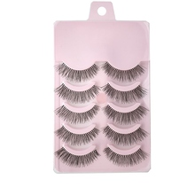 13caf161e29 5 Pairs 3D False Eyelashes Handmade Faux Lashes Extensions Volume Curling  Beauty Tool Cosmetic Top Fake