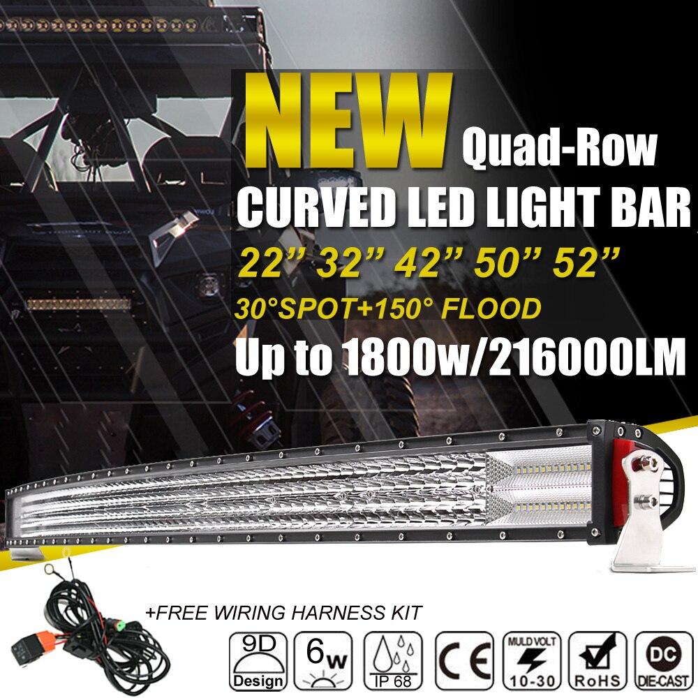 Autofeel Curved Led Light Bar 22 Quot 32 Quot 42 Quot 50 Quot 52 Quot Combo