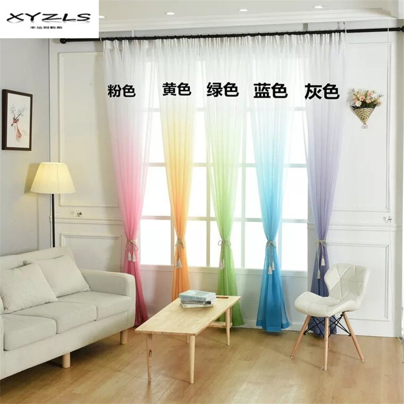 Aliexpress.com : Buy XYZLS Colorful Tulle Curtains Window