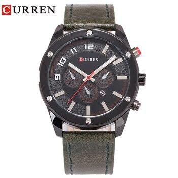 CURREN 8204  Luxury Fashion Casual Men Watches Calendar Sports Watch Quartz Male Wristwatches дамски часовници розово злато