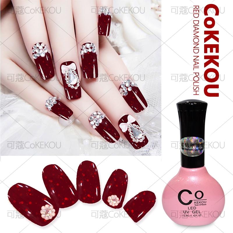 CoKEKOU Red Nail Polish Nail Gel Japanese Retro Environmental Nail ...