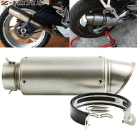 FOR HONDA SUZUKI Motorcycle Exhaust Pipe Muffler 51mm 60mm Racing Exhaust Real Carbon Fiber Exhaust Pipe With Moveable DB Killer