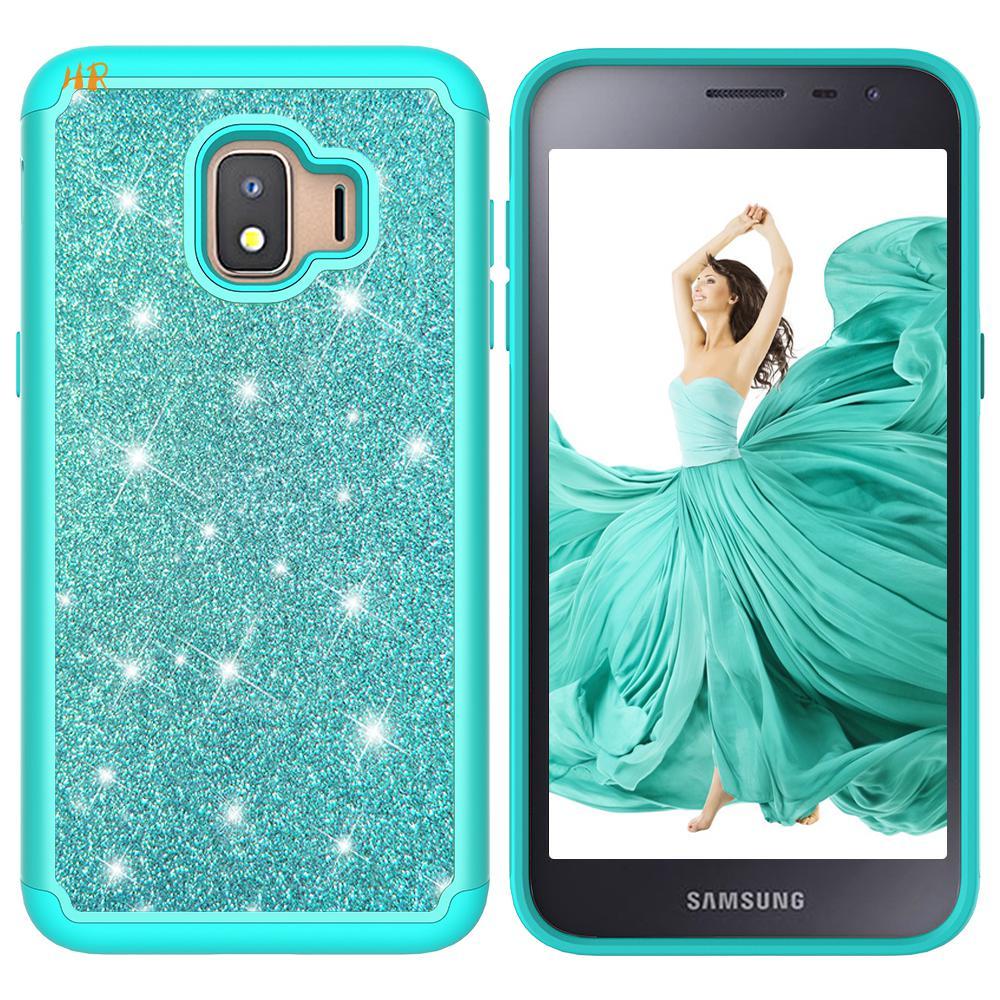 30pcs Shiny Glitter Phone case for Samsung Galaxy J2 Core A6 Note9 S8 S9 Plus J3 j8 2018 Hard PC Back Cover TPU Soft Case Coque