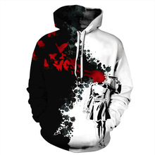 Cool 3D Print Boy Suicide Shooting Blood Hoodies Men/Women Hip Hop Streetwear Pullover Hat Sweatshirts 2018 Boys Black Jacket