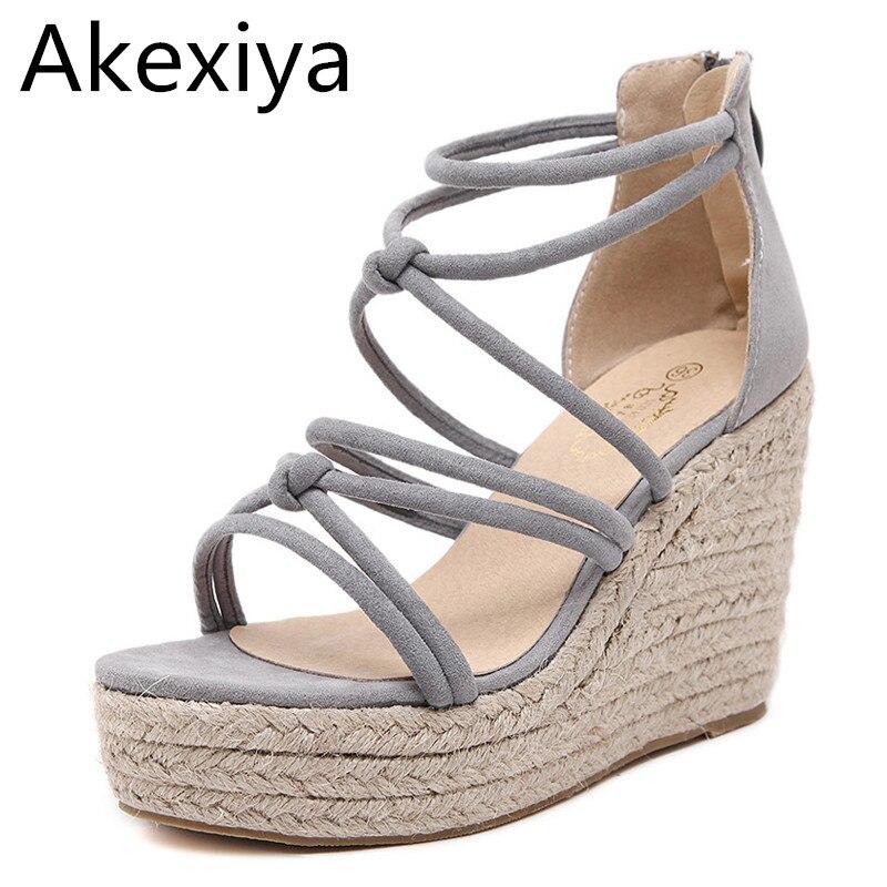 design intemporel 2902b 0f84e Akexiya Marque De Luxe Designer Espadrilles Sandales ...