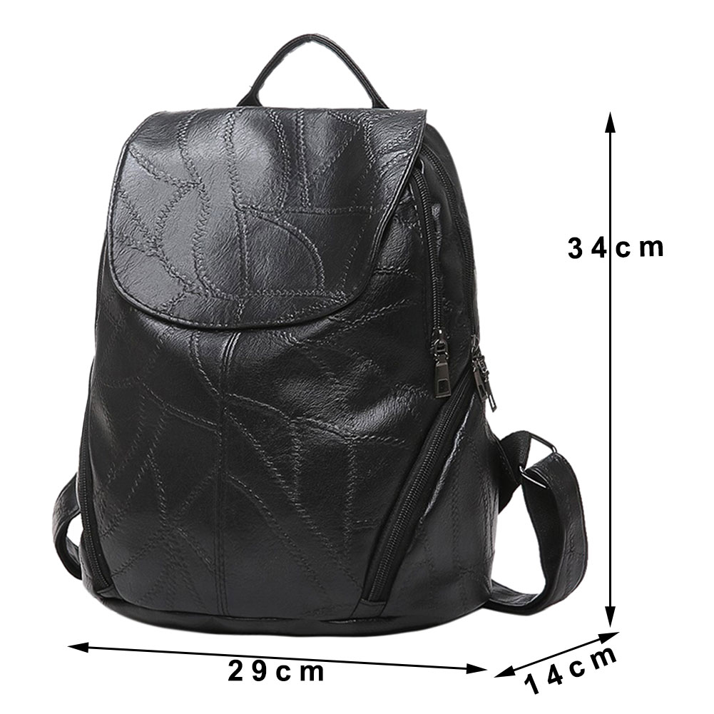 New Sheepskin Pattern Backpack Women PU Leather Backpack Travel Backpack Simple Girls School Bags for Teenage Girls Mochila