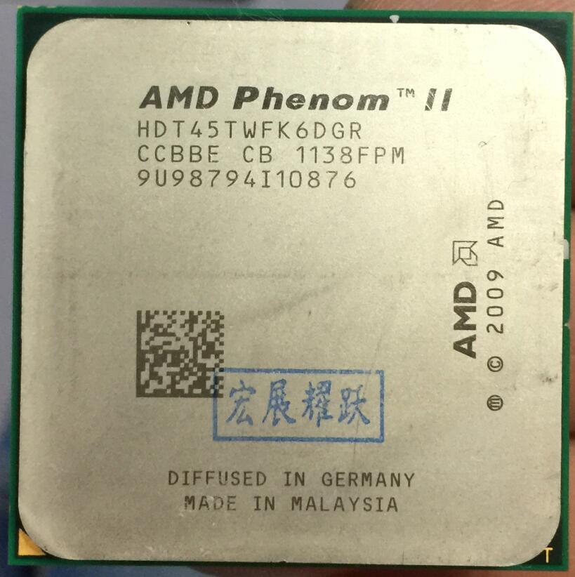 АМД процессоры Phenom 1045T АМД процессора PC компьютер настольный процессор 2,7 г процессор сокета AM3 95ВТ