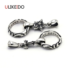 Pure 925 Sterling Silver Jewelry Cross Charms Punk Pendants for Men Thai Silver Necklace Star Vintage Chain Fine Gift 646